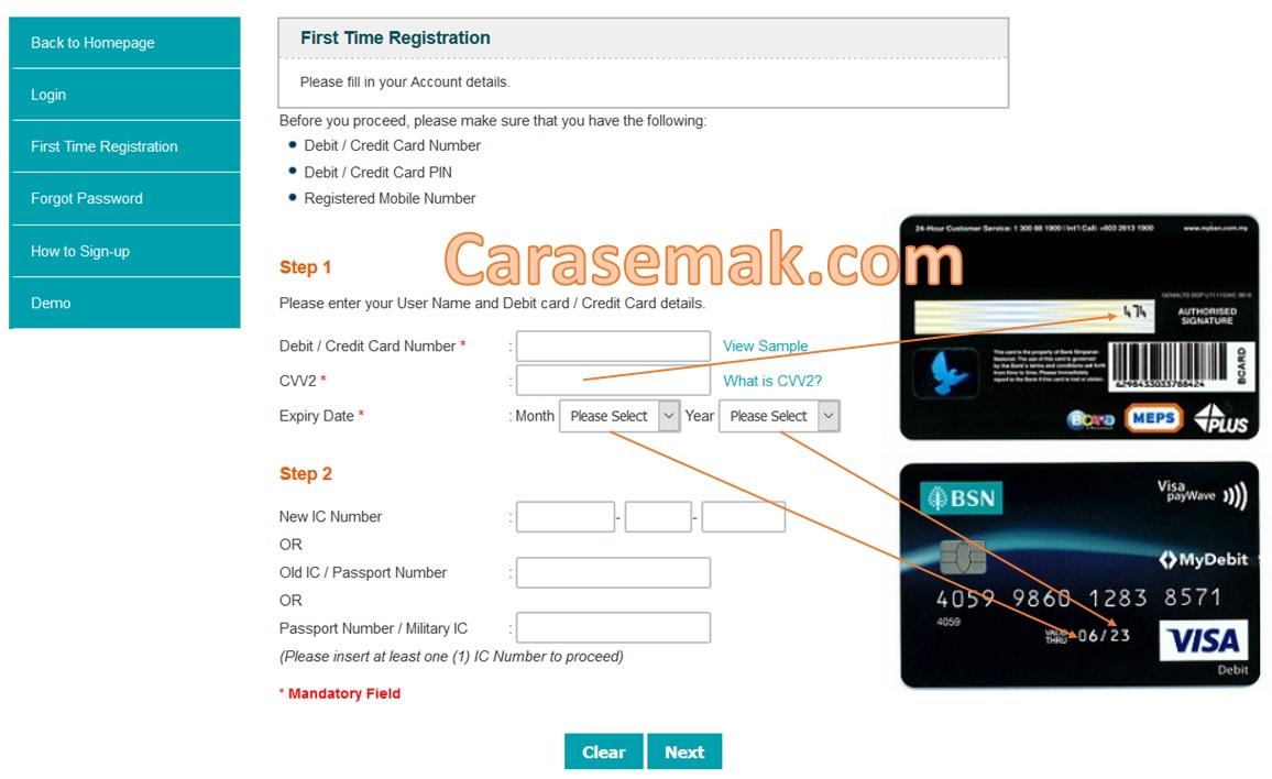 5 Minit Cara Daftar Akaun Mybsn Internet Banking Online Mudah