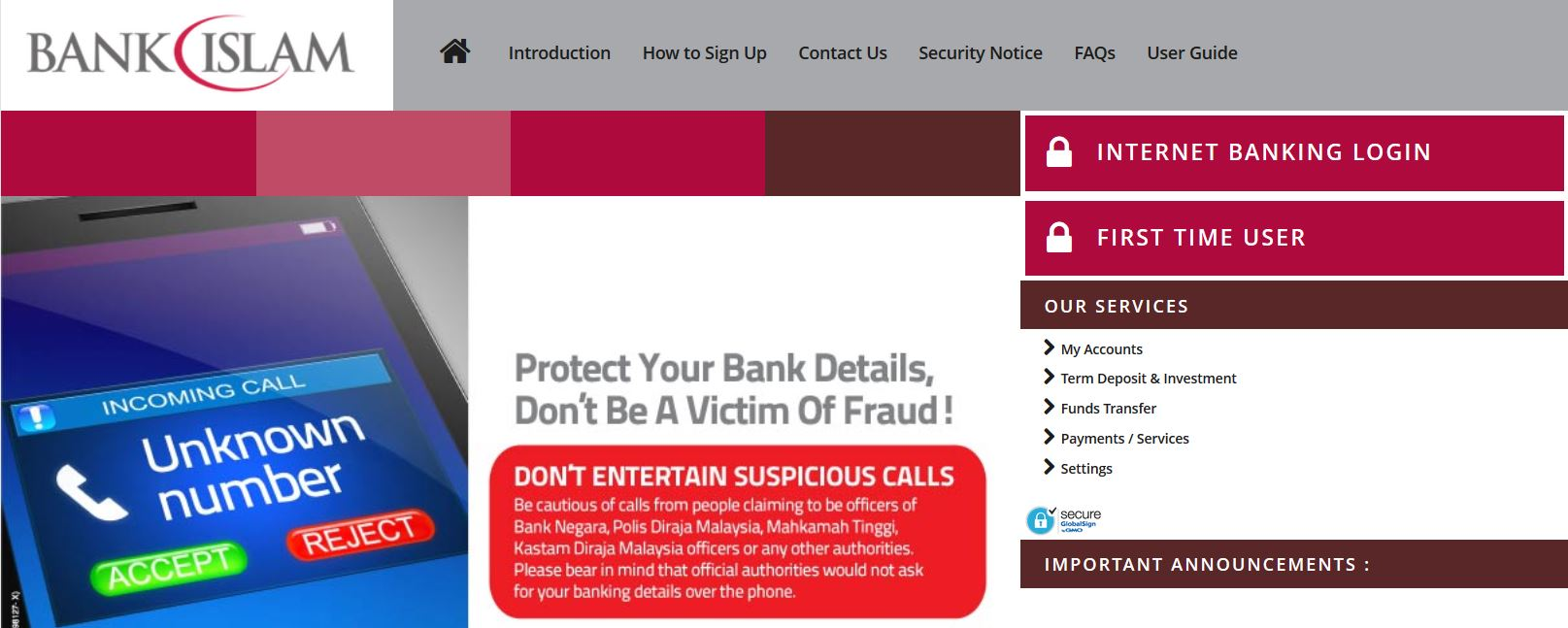 Internet Banking Login Bank Islam