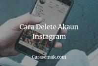 Cara Delete Akaun Instagram Guna Phone