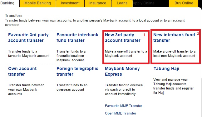 Transfer Duit Maybank2u 1