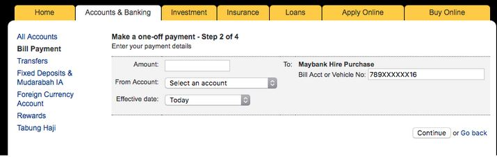 Bayar Loan Maybank Online