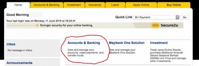 Bayar Pinjaman Kereta Maybank