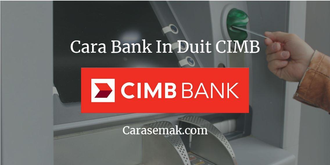 Cara Bank In Duit CIMB