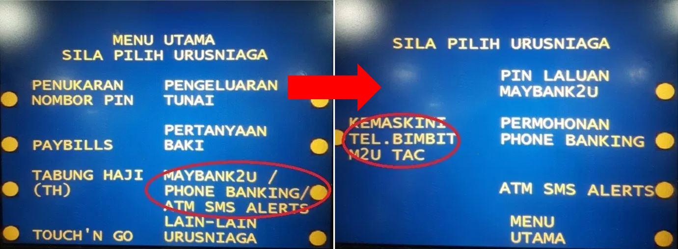 Daftar Nombor Telefon TAC Maybank2u