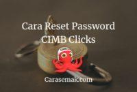 Reset Password CIMB Clicks