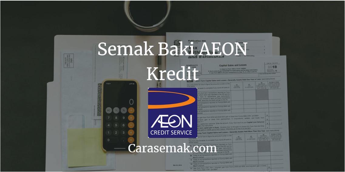 Cara Mudah Semak Baki Aeon Kredit Melalui Sms Percuma