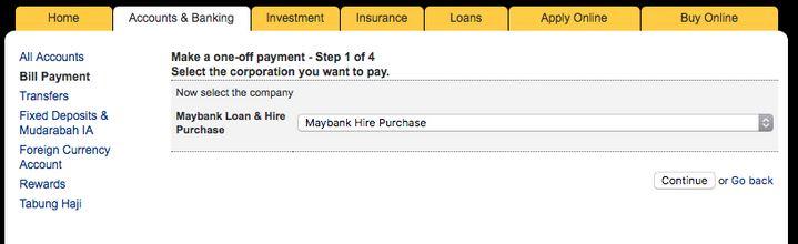 Tutorial Bayar Pinjaman Kereta Maybank