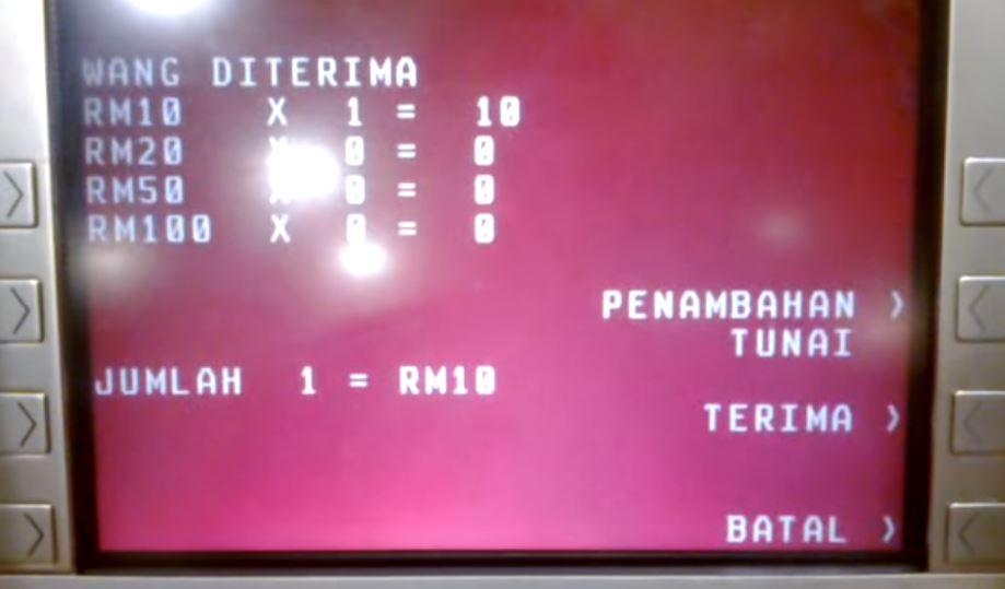 Urus niaga melalui mesin ATM