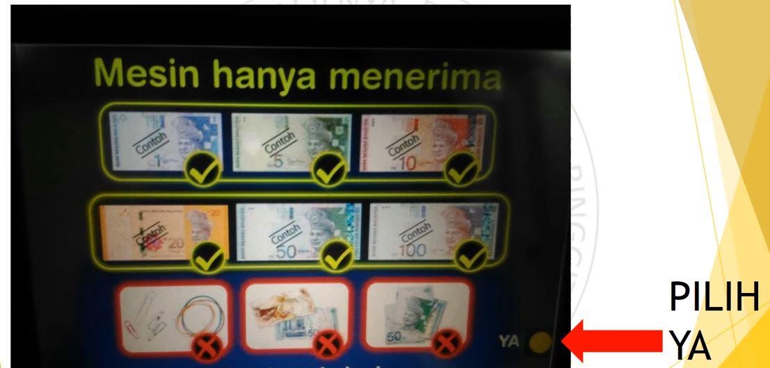 Wang yang boleh bank in melalui mesin ATM