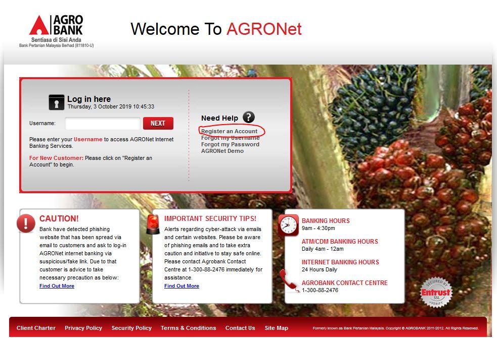 Cara Daftar Agrobank Online