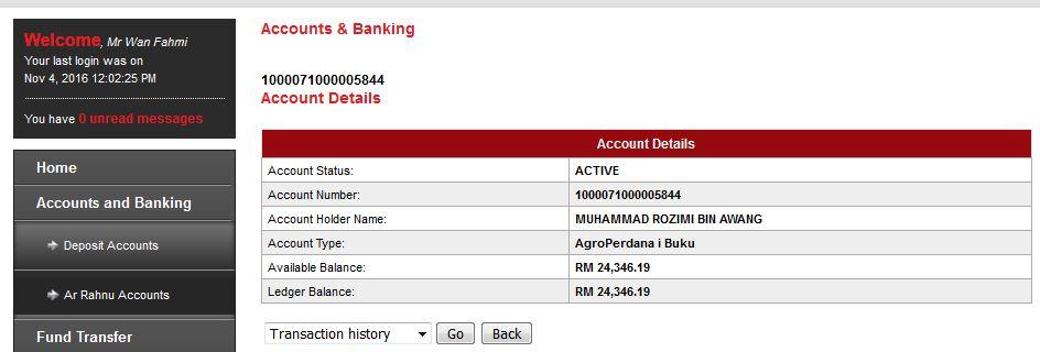 Check Baki Akaun Agrobank
