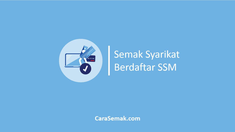 Semak Syarikat Berdaftar SSM