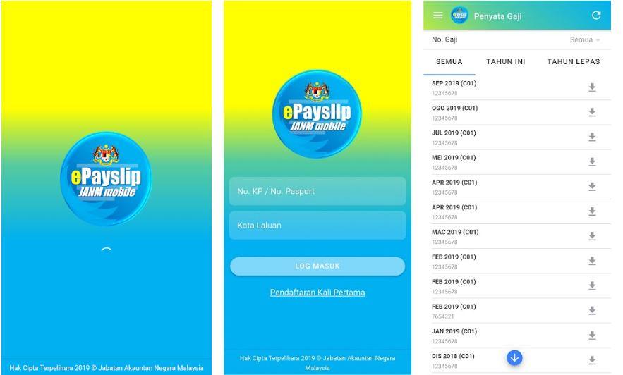 Aplikasi Penyata Gaji Online