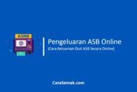 Pengeluaran Duit ASB Online