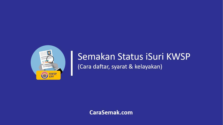 Semakan Status iSuri KWSP