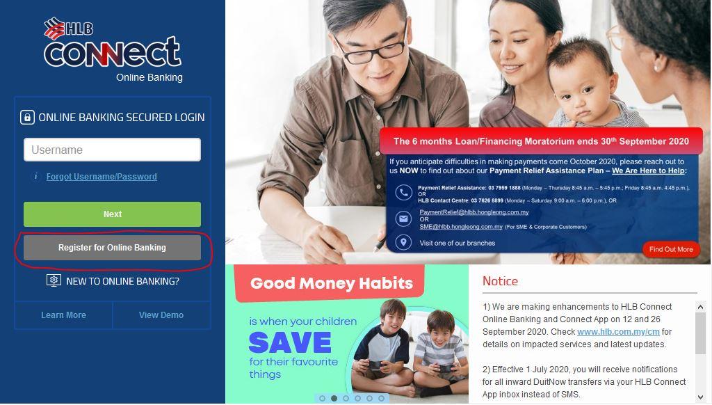 Cara Mendaftar Hong Leong Online Banking