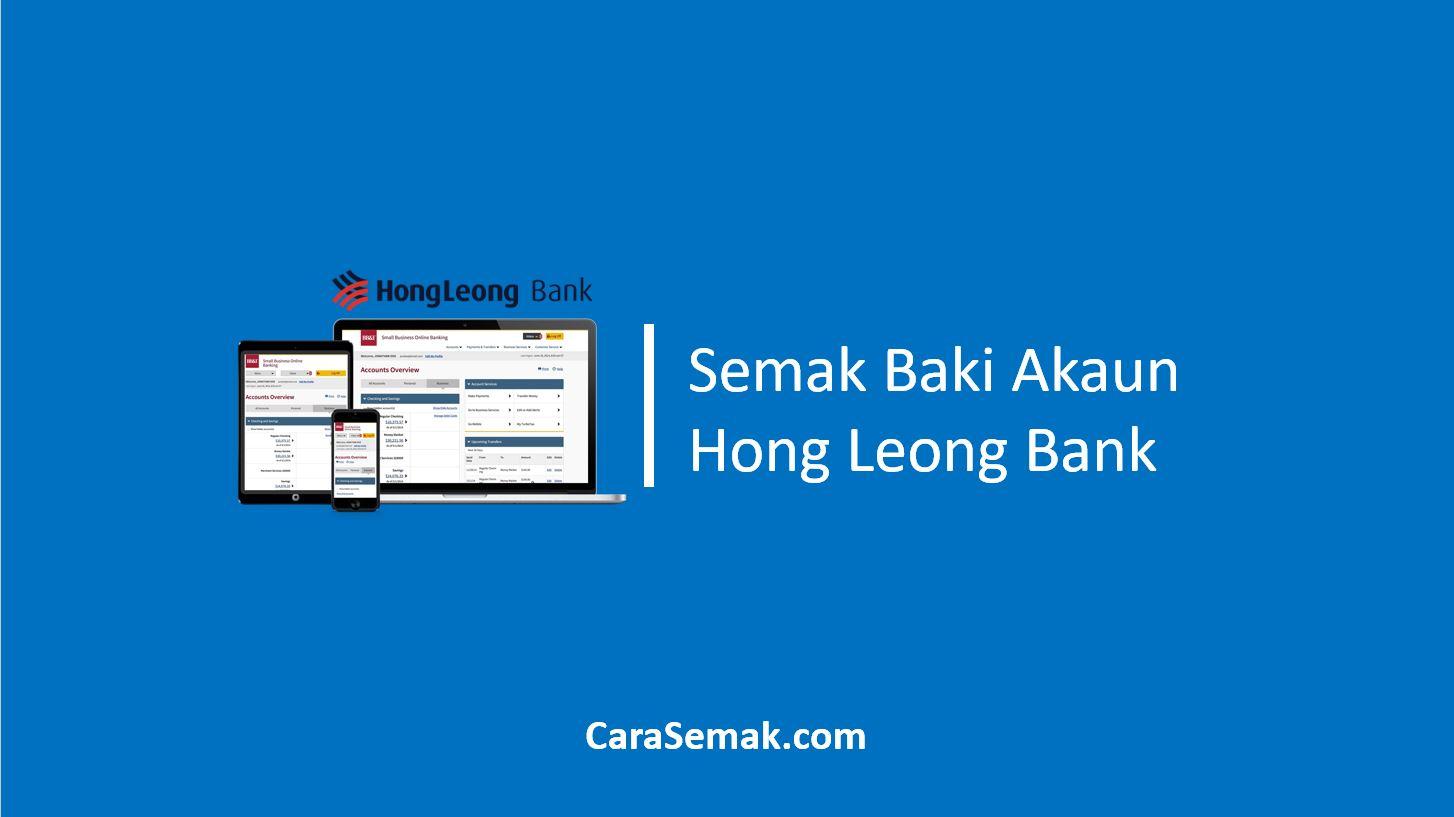 Semak Baki Akaun Hong Leong Bank