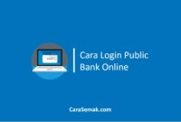 Cara Login Public Bank Online