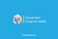 Semak Baki Pinjaman MBSB